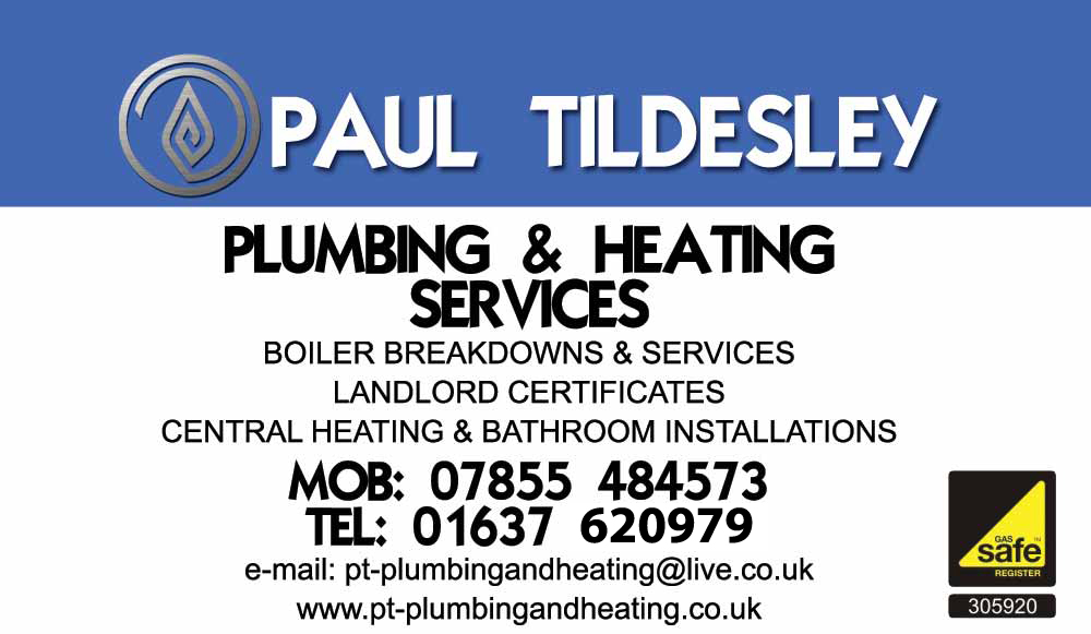 Paul Tildesley - Plumbing & Heating Services, Newquay, Cornwall
